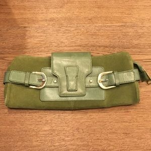 Banana republic real Suede and leather clutch